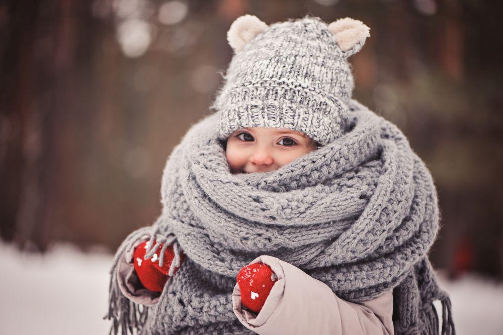 тепло одет зимой